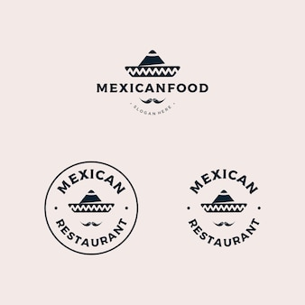 Logotipo de distintivo de restaurante mexicano