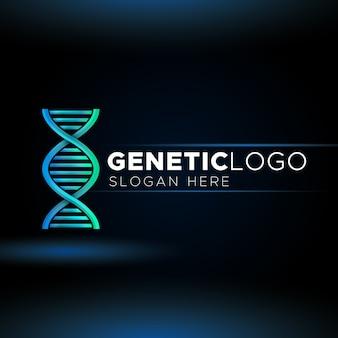 Logotipo de dna genético moderno