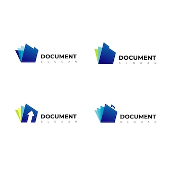 Logotipo de documento vetorial