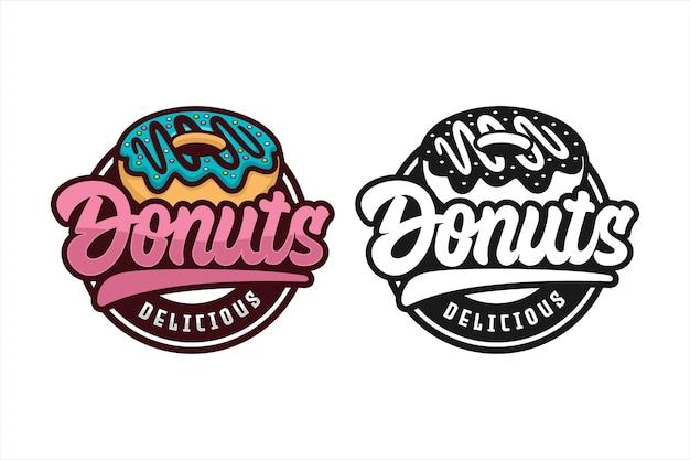 Logotipo de donut delicioso