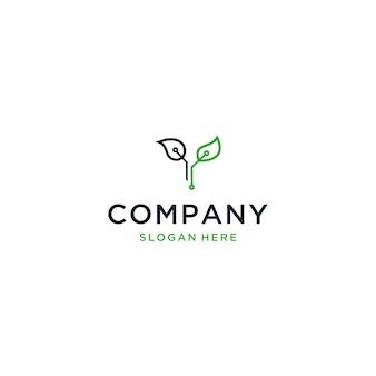 Logotipo de eco-tecnologia, letra y logotipo de eco-letra