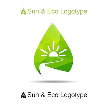 Logotipo de ecologia, ícone e símbolo da natureza