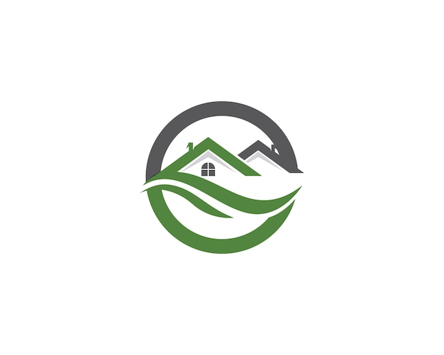 Logotipo de edifícios de casa e modelo de ícones de símbolos