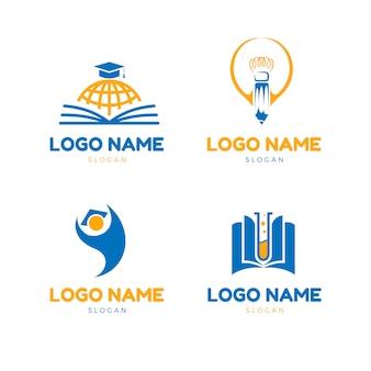 Logotipo de educação moderna