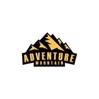 Logotipo de emblema adesivo de montanha