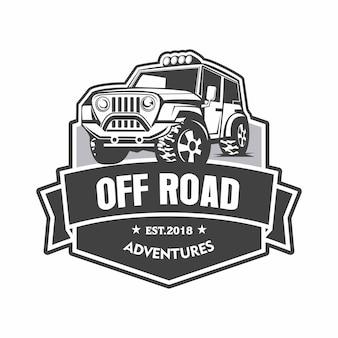 Logotipo de emblema de aventuras fora de estrada