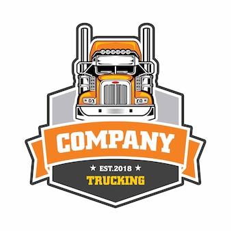 Logotipo de emblema de empresa de caminhões