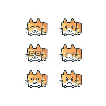 Logotipo de emoticon de gato