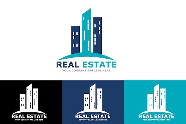 Logotipo de empresa de construção e construção de imóveis