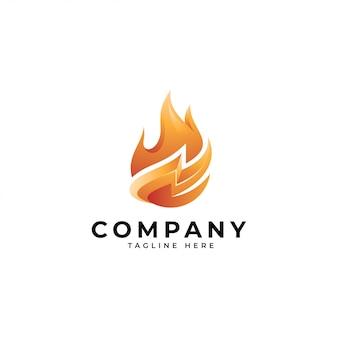 Logotipo de energia de fogo