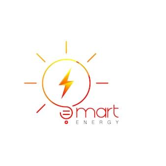 Logotipo de energia inteligente