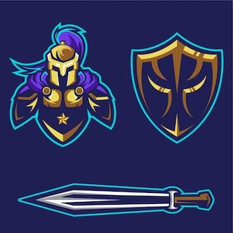 Logotipo de engrenagem de cavaleiro