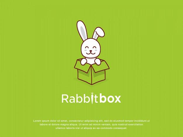 Logotipo de entrega de caixa de coelho