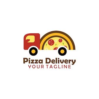 Logotipo de entrega de pizza