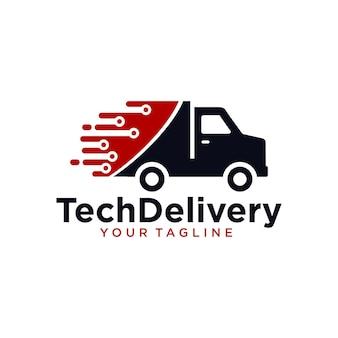 Logotipo de entrega de tecnologia