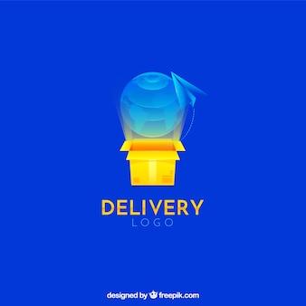 Logotipo de entrega para a empresa