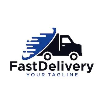 Logotipo de entrega rápida