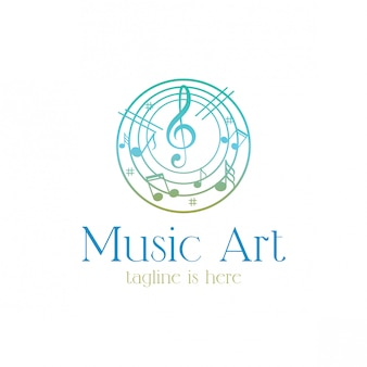 Logotipo de entretenimento e arte