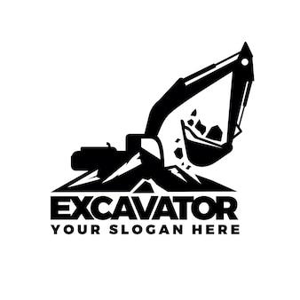 Logotipo de escavação