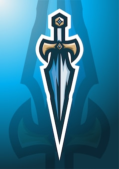 Logotipo de espada de estoque vetorial