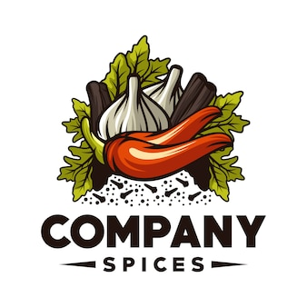 Logotipo de especiarias