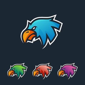 Logotipo de esport águia