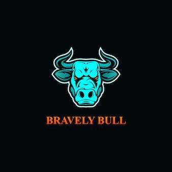Logotipo de esport de cabeça de touro bravo