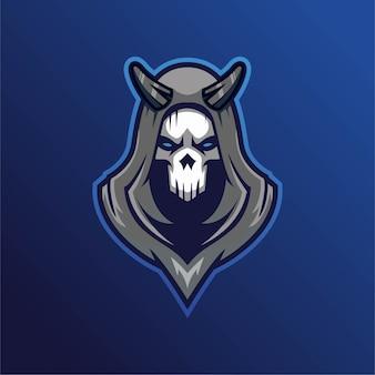 Logotipo de esport de jogos de mascote de crânio