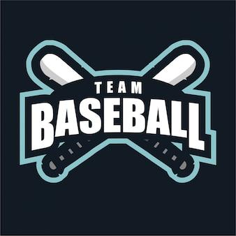 Logotipo de esporte de equipe de beisebol