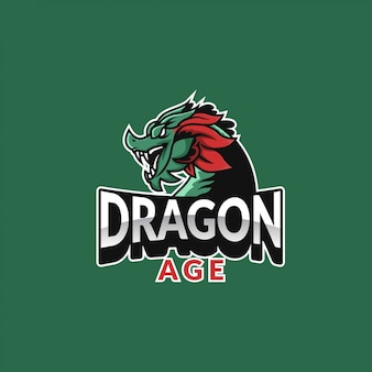 Logotipo de esporte de idade de dragão