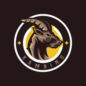 Logotipo de esporte de mascote de cabra