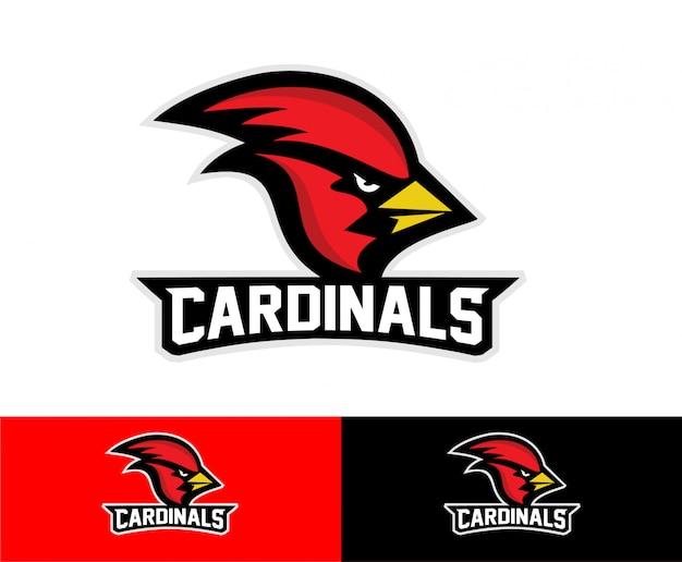 Logotipo de esporte de pássaro cardeal