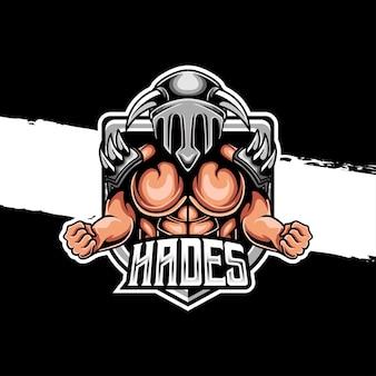 Logotipo de esporte do hades