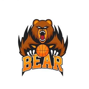 Logotipo de esporte emblema animal