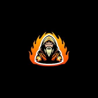 Logotipo de esporte mago