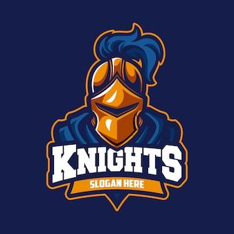 Logotipo de esporte profissional moderno de cavaleiro
