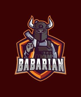 Logotipo de esportes bárbaros e