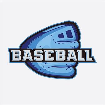 Logotipo de esportes de beisebol com emblema