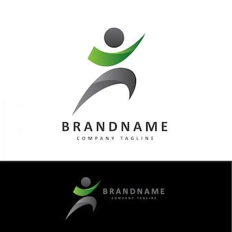 Logotipo de esportes de corredor