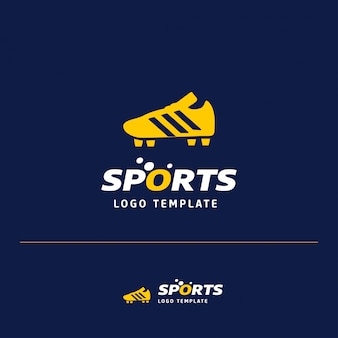 Logotipo de esportes de futebol