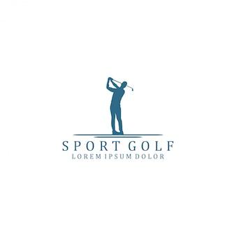 Logotipo de esportes de golfe
