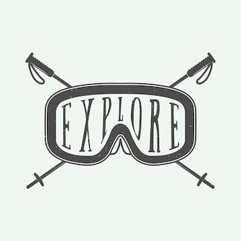 Logotipo de esportes de inverno