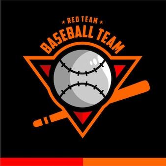 Logotipo de esportes do emblema de beisebol