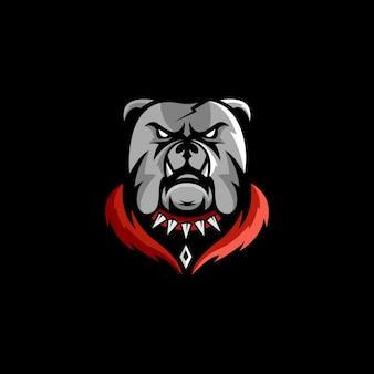 Logotipo de esports de buldogue