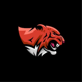 Logotipo de esports de cabeça de tigre