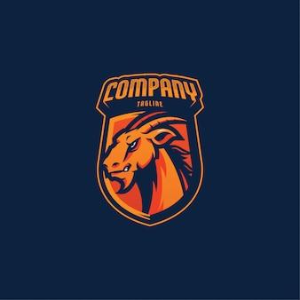 Logotipo de esports de cabra