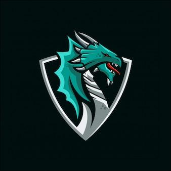Logotipo de esports de dragão