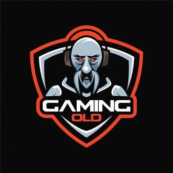 Logotipo de esports de jogos antigos