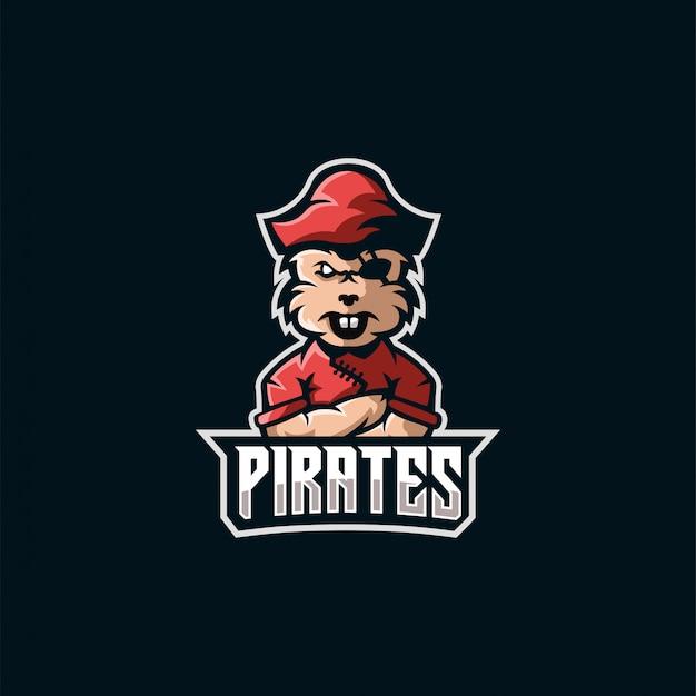 Logotipo de esports de piratas