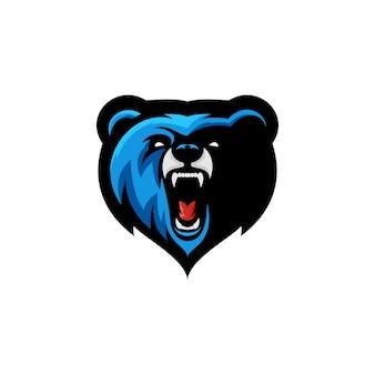 Logotipo de esports de urso bravo